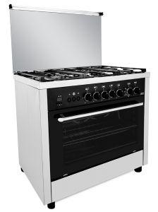 Fresh Freestanding Professional Digital Gas Cookers, 5 Burners, Stainless Steel, 90 cm - 5790