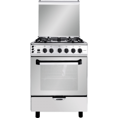 Fresh Freestanding Plaza Gas Cooker, 4 Burners, Stainless Steel, 60 cm - 3440