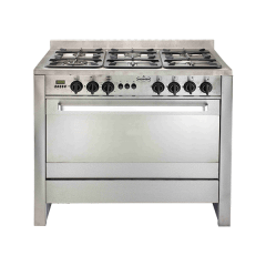 Universal Freestanding Diamond Gas Cooker, 6 Burners, Stainless Steel, 100 cm - 6106PR-8