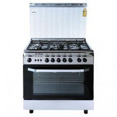 Fresh Italiano Gas Cooker, 5 Burners, Stainless Steel - 2900