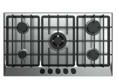 Fresh Built-In Gas Hob, 5 Burners, Silver - 9585