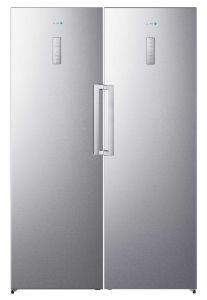 White Whale Twins No-Frost Refrigerator, 600 Liters, Inverter Motor, Silver - WF3068+WR3068KSS