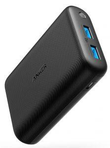 Anker PowerCore Power Bank, 15000mAh, 2 Ports, Black - A1242011