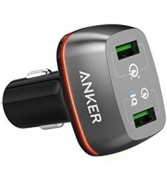 Anker PowerDrive+ 2 Car Charger, 2 Ports, 42W, Black - A2224H12
