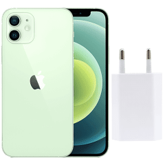 Apple iPhone 12, 128GB, 4GB RAM, 5G - Green with Apple Premium Service Provider and Original Adapter