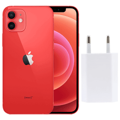 Apple iPhone 12, 128GB, 4GB RAM, 5G - Red with Apple Premium Service Provider and Original Adapter