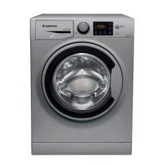 Ariston Front Loading Digital Washing Machine, 8 KG, Silver - RPG822SSEX