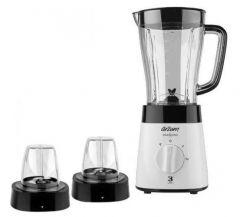 Arzum Maxiblend Blender with 2 Grinders, 1.5 Liter, 500 Watt, Black/White - AR1057