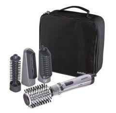 Babyliss Hair Styler Rotating Brush with Attachments, 1000 Watt, Silver/Black - 2735E