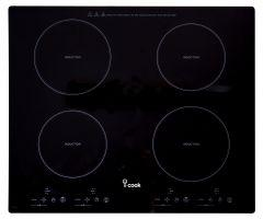 i-Cook 4 Burners Electric Built-In induction Hob, 60 cm - BH5060G-D