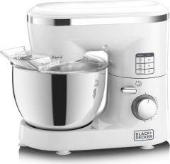 Black & Decker Stand Mixer, 1000 Watt, 4 Liter, White - SM1000