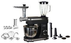 G.Tec Pro Chef Stand Mixer with Attachments, 1400 Watt, Black - G051-KMS