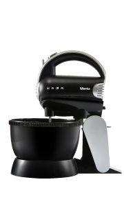 Mienta Hand Mixer with Stand, 300 Watt, Black/Silver - HM13529A
