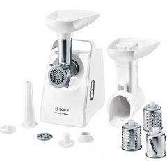 Bosch Compact Power Meat Grinder, 1500 Watt, White - MFW3540W