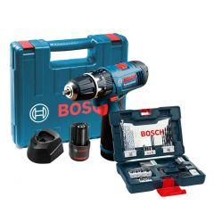 Bosch Professional Cordless Drill and Driver Set, Black / Blue - GSB 120