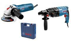 Bosch Set of Rotary Hammer with Angle Grinder, 06112721K5