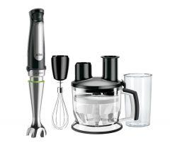 Braun MultiQuick 7 Hand Blender Set, 1000 Watt, Black/Silver - MQ7075