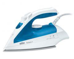 Braun TexStyle 3 Steam Iron, 2000 Watt, White/Blue - TS 340 C