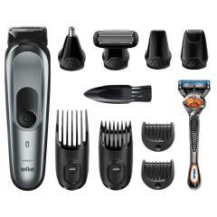 Braun All-in-one Trimmer 10-in-1 with Gillette Fusion5 ProGlide Razor, Silver - MGK7220