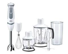 Braun MultiQuick 5 Vario Hand Blender with Attachments, 1000 Watt, White/Grey - MQ 5245 WH