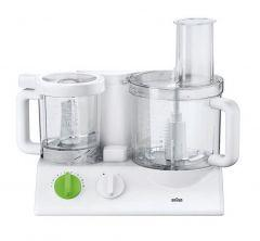 Braun TributeCollection Food Processor, 600 Watt, White/Green - FX3030