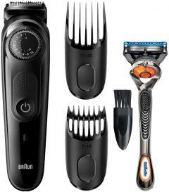 Braun Beard Trimmer with Gillette Fusion5 ProGlide Razor, Black - BT5242