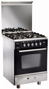 Uniontech 4 Burners Gas Cooker, Stainless Steel, 60 cm - C6060DC-511-IDSC