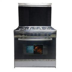 Unionaire Freestanding Gas Cooker, 5 Burners, Stainless Steel, 80 cm - C6080SS-AP-447-L-F