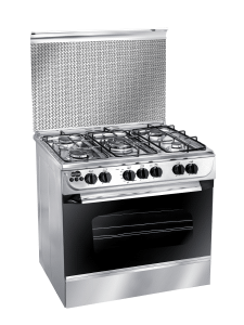 Unionaire Free Standing Gas Cooker, 5 Burners, Stainless Steel- C6090SSAC187F