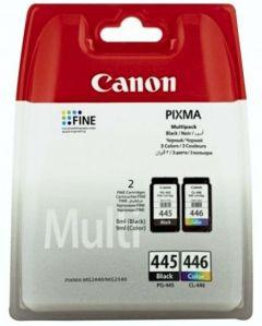 Canon PG-445 and CL-446 Multipack Ink Cartridge - Black / Tri-color
