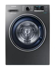Samsung Front Loading Washing Machine, 8 KG, Silver - WW80J5455FX