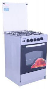 Unionaire Gas Cooker, 4 Burners, Silver- CF5555SV-170
