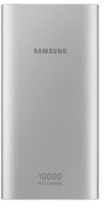 Samsung Fast Charge Power Bank ,10000mAh , 2 Ports, Silver - EB-P1100B