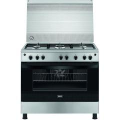 Zanussi Gas Cooker, 5 Burners, Silver- ZCG922A6XA