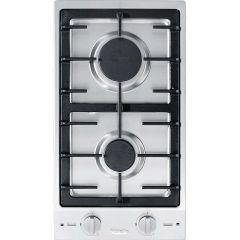 Miele Gas Built-In Hob, 2 Burners, Silver- CS 1012-2 G