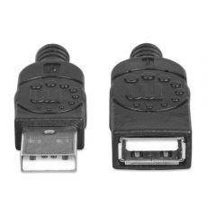 Manhattan USB Extension Cable, 3 Meters, Black - 393850