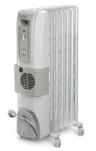 DeLonghi Oil Heater, 7 Fins, 1500 Watt, White - KH770720V