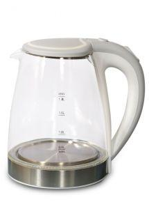 Electric Glass Kettle, 1.8 Liters, Grey - O1Gr