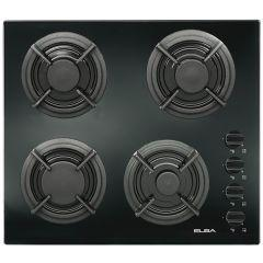 Elba Gas Built-in Hob, 4 Burners, Black - E41-455 BK