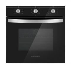 Ecomatic Crystal Professional Built-In Electric Oven With Grill, 64 Liters, Black- E6106GP