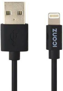Iconz Charging Cable For iPhone- 1M- Black- IMCS10K