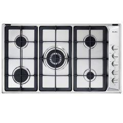 Elba Gas  Built-In Hob, 5 Burners, Stainless Steel- E95-545 XN