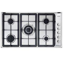 Elba Gas  Built-In Hob, 5 Burners, Stainless Steel-E95-545 XND