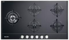 Elba Gas  Built-In Hob, 5 Burners, Black- ELIO 95-565 CG