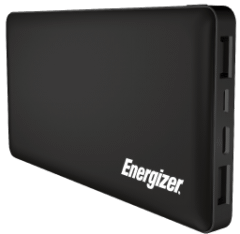 Energizer Power Bank, 10000mAh, 2 Ports, Black - UE10015