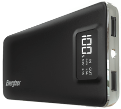 Energizer Power Bank, 10000mAh, 2 Ports, Black - UE10018