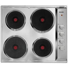 Elba Electric Built-In Hob, 4 Burners, Silver- ES60-046 X