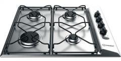 Indesit Gas Built-In Hob 4 Burners, Silver - PAA 642 IX/I EE