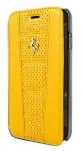 Ferrari 458 Leather Flip Cover for iPhone 6/6s – Yellow