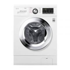 LG Front Loading Digital Washing Machine, 8 KG, Silver - FH4G7TDY5